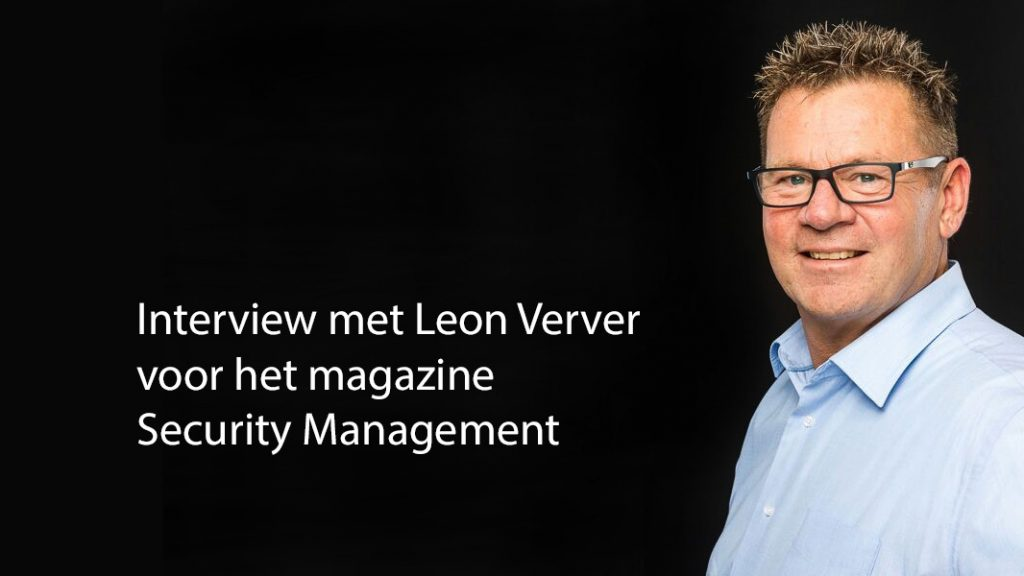 Interview DITSS Directeur Leon Verver met Magazine Security Management